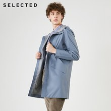 SELECTED New waterproof business casual men's long trench coat jacket S |419121516(China)