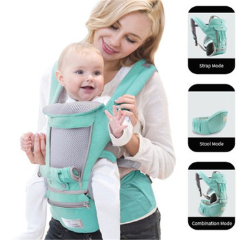 Dropshipping Ergonomic Baby Carrier 0-36M Baby Hipseat Carrier Front Facing  Kangaroo Baby Wrap Sling for Baby Travel
