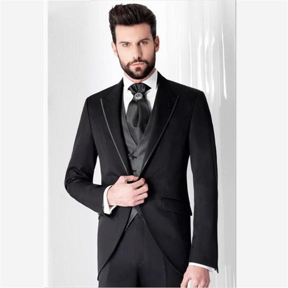 New Classic Men's Suit Smolking Noivo Terno Slim Fit Easculino Evening Suits For Men Prom Tuxedo Groom Style Suits Custom Blazer