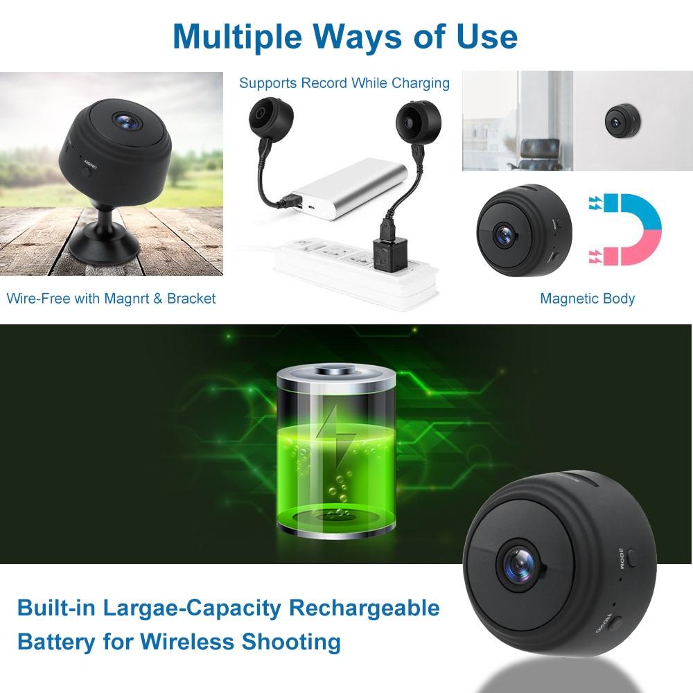 1080P A9 Mini Camera Wifi Wireless Action Smart Home Security Camera P2P Micro Camcorder Video Recorder Remote Casa Inteligent 3