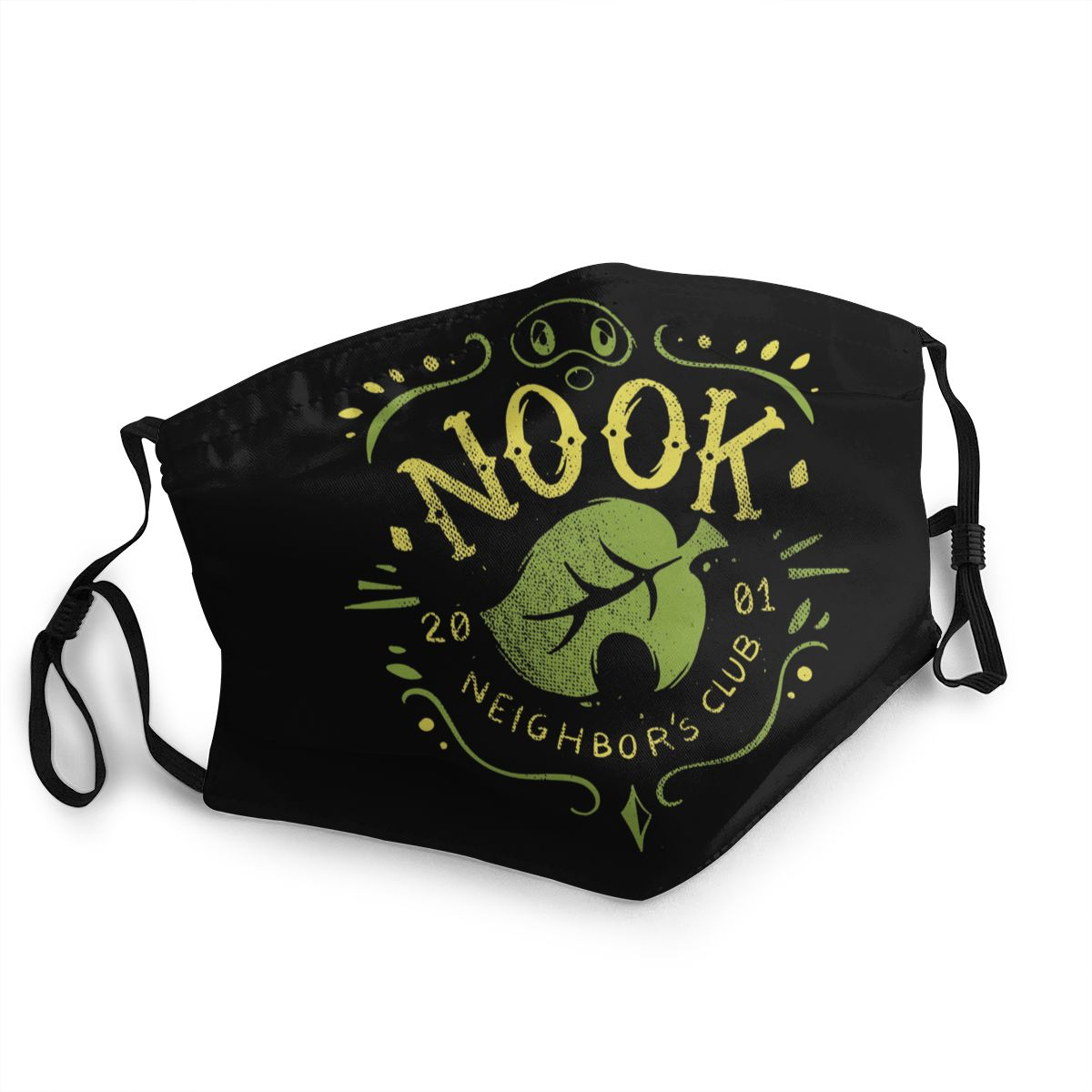 Nook Neighbor's Club Non-Disposable Mouth Face Mask Animal Crossing Anti Bacterial Dustproof Mask Protection Cover Respirator