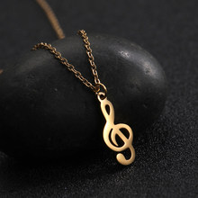 COOLTIME Stainless Steel Necklace Yoga note Tree of Life Moon Star Charm Jewelry thin Lady Girl Necklace(China)