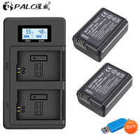 2pc Pour Sony NP-FW50 NP FW50 FW50 Batterie + Chargeur LCD Pour Sony A6000 NEX-7 NEX 5N F3 NEX-3D NEX-3DW NEX-3K NEX-5C Alpha 7R II