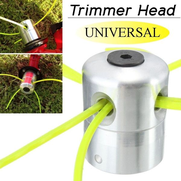 Garden Trimmer Head Universal Aluminium Alloy Strimmer Trimmer Head String Set For Grass Brush Cutter With 4 Line Brush