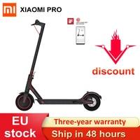 Versión Global Xiaomi Mijia M365 Pro eléctrica Scooter aerotabla patineta plegable Longboard Mini 2 ruedas para adultos 45KM de kilometraje