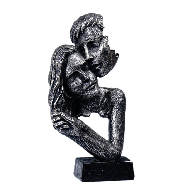 Sculpture Head Modern Abstract Art Resin Statue Decoration  1