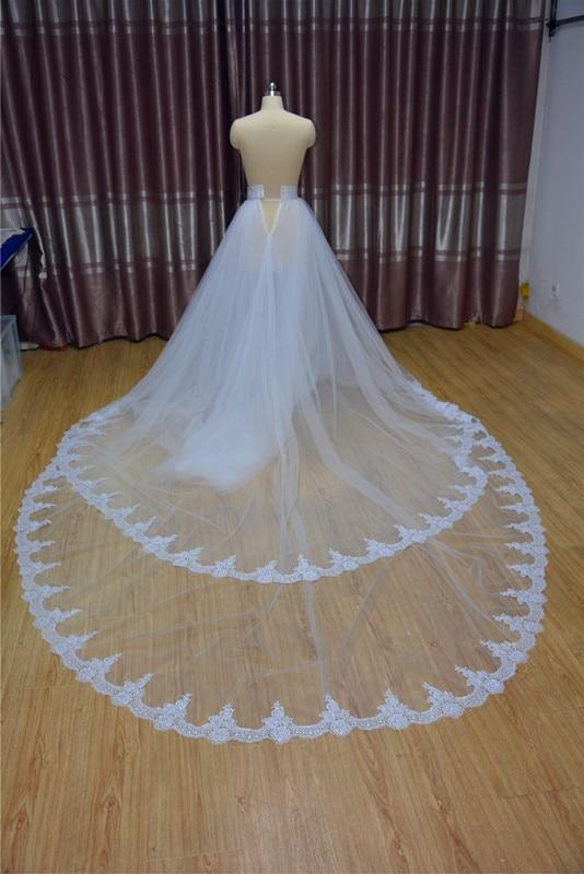 Wedding Skirt, Wedding Skirt With Train, Tulle Wedding Skirt, Bride Skirt, Removable Skirt Petticoat  Wedding Accessories