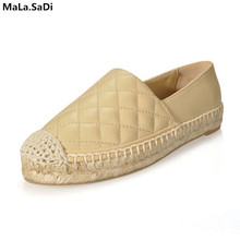 Genuine Leather Shoes Women Slip On Espadrilles Woman Comfortable Loafers Flats Lady Casual Flat Fisherman Shoes Plus Size цены онлайн