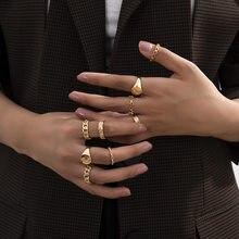 Europejska i amerykańska biżuteria ze stopu hollow moon połączenie osobowości pierścionek zestawowy dla kobiet prezenty hurtowych