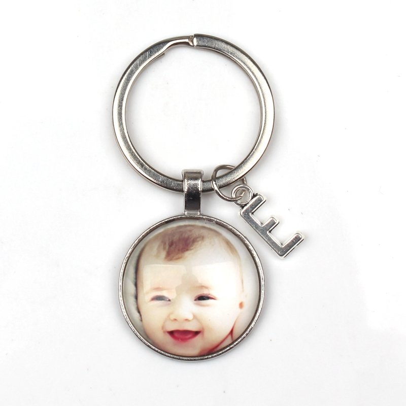 Personalized Photo Pendants ABC Custom Keychain Photo Baby Child Mom Dad Grandparent Loved One for Family Member Gift wholesale in Key Chains from Jewelry Accessories