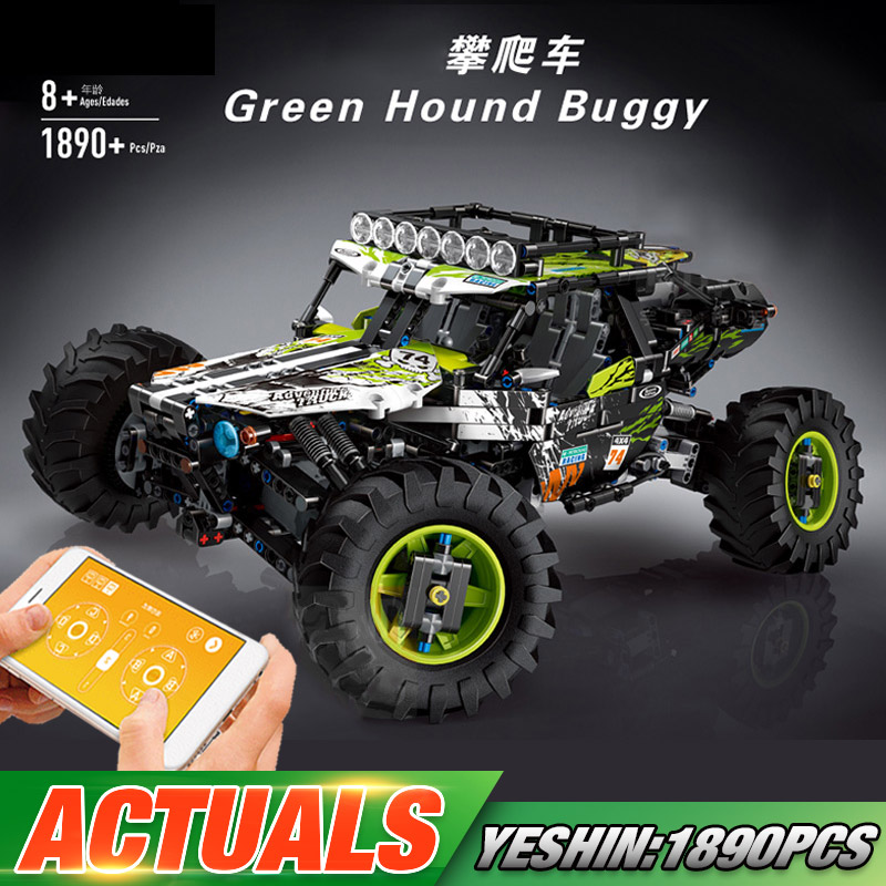 Yeshin Technic Car Toys Compatible With Lepining MOC-19517 4WD RC Buggy Car Model Building Blocks Brick Kids Christmas Toys Gift