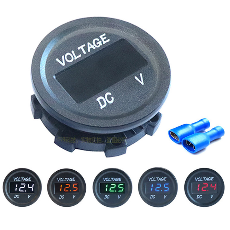 1pc Geändert DC wasserdichte digital display auto <font><b>voltmeter</b></font> auto motorrad batterie LED <font><b>voltmeter</b></font> <font><b>12V</b></font> DC5V-48V LED Panel rot blau image