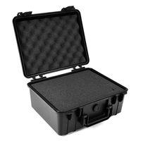 PP sponge Black Waterproof Hard Plastic Case Bag Tool Storage Box Portable Organizer for electronic equipment mechanical Parts