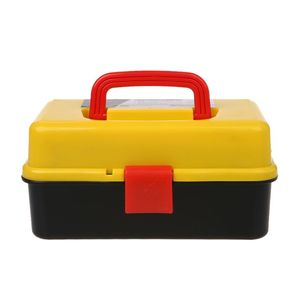Image 2 - 3 Layer Folding Tool Storage Box Portable Hardware Toolbox Multifunction Car Repair Container Case Thickening folding rods