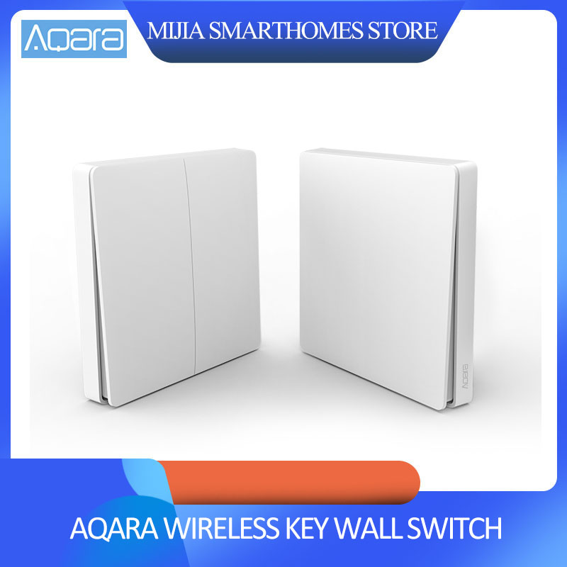 Original Xiaomi Aqara Smart Switch Light Remote Control ZiGBee Wifi Wireless Key Wall Switch Work With Mijia Mi Home APP