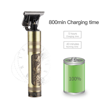 USB Rechargeable T9 Baldheaded Hair Clipper Electric hair trimmer Cordless Shaver  Trimmer 0mm Men Barber Hair Cutting Machine 5