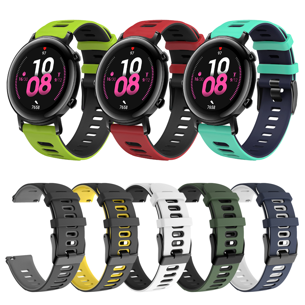 High Quality Hit Color Silicone Strap For HUAWEI WATCH GT 2 42mm Band Wristband GT2 42 Classic/Sport Edition Bracelet Watchband