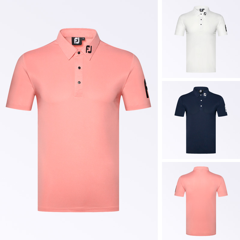 Golf clothing men's new short sleeve T-shirt outdoor leisure sports polo shirt sweat absorption breathable golf wear
