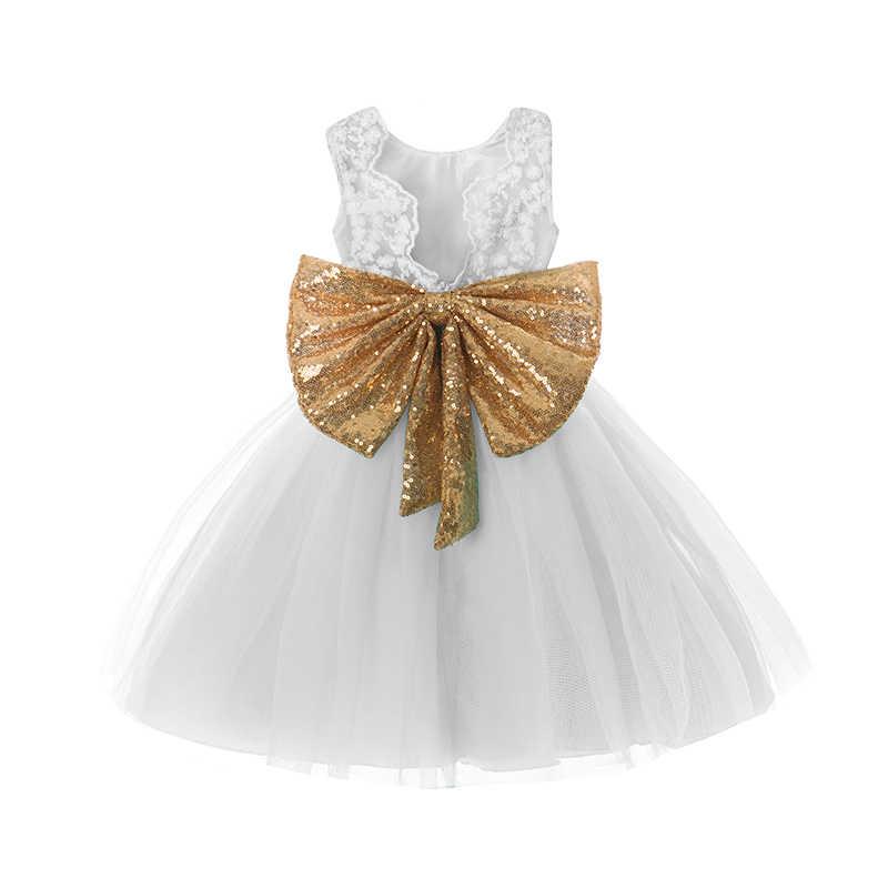 Vestido de niña pequeña vestido de bautismo recién nacido vestido de 1 año de cumpleaños vestido de princesa niña de las flores bata de bautizo para bebé