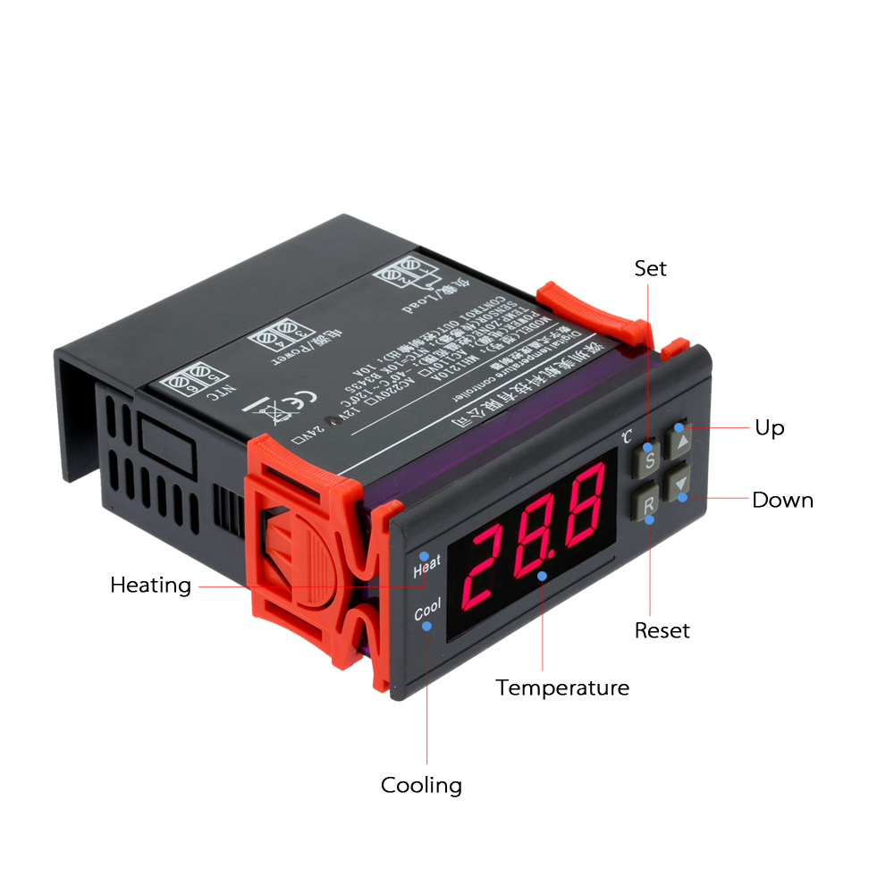 Digital Temperaturregler 55~120℃ Thermostat Temperatur Sensor Controller 12V