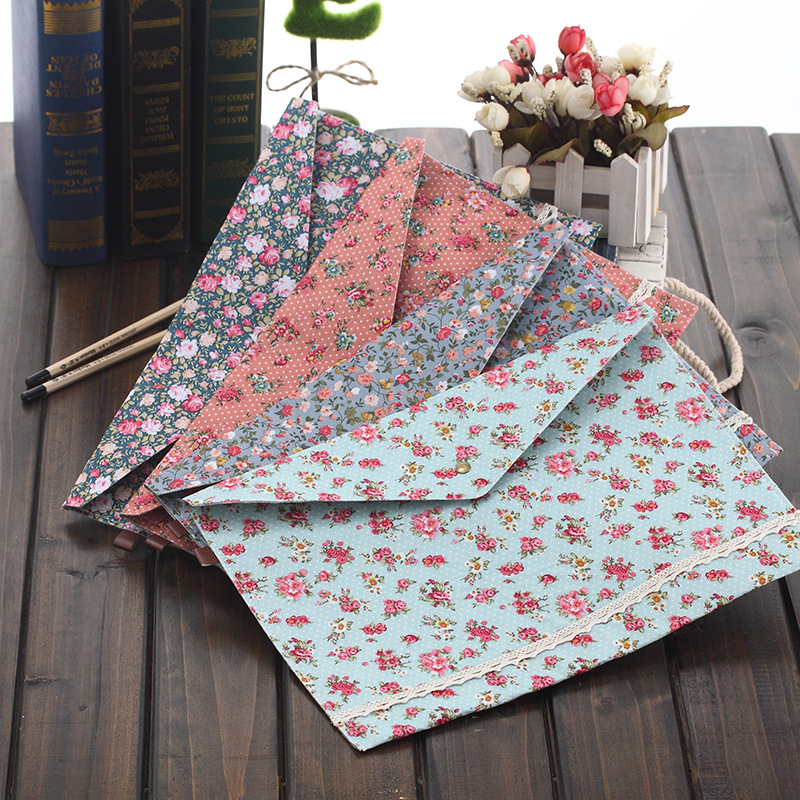 1 PC Elegant Documents File Bag Of New Cute Floral A4 Cloth Art Press File Bag Folder Stationery School Office Escolar Papelaria