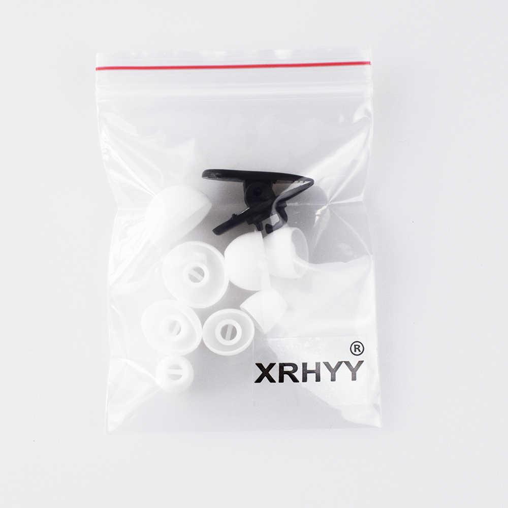 Xrhyy Putih XS/S/M/L/4 UKURAN 8 Pasang Silikon Lembut Pengganti Ujung Telinga Telinga Adaptor untuk Sennheiser MOMENTUM HD1 In-Ear Earbud