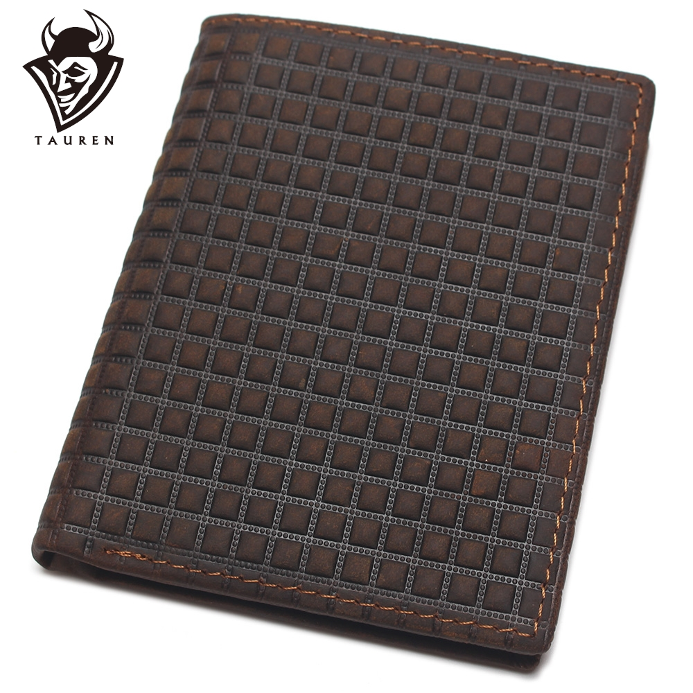 Crazy Horse Leather Man Leather Wallet With Embossed Pattern Design Imported Leather Mens Genuine Leather Coin Purse