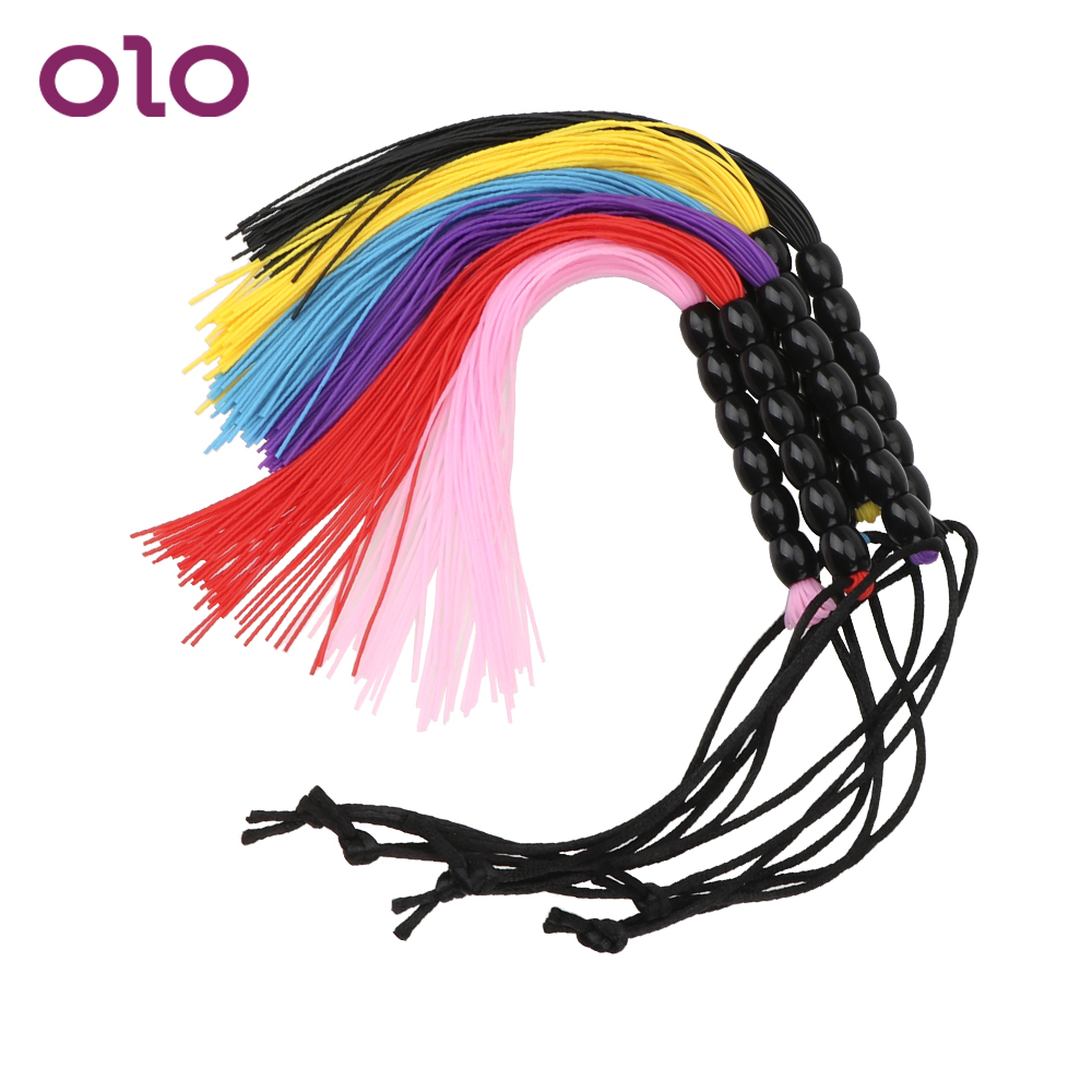 OLO Slap Body Strap Spanking Whip Flirt Flog Tool Sex Toy For Women Couple Slave Game Fetish Adult SM 22cm Tiny Silicone Tassel