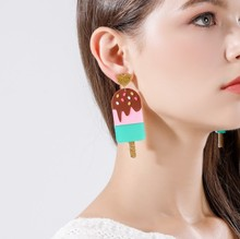 New Long Popsicle Earrings Personality Women  Acrylic Fashion Food Jewelry