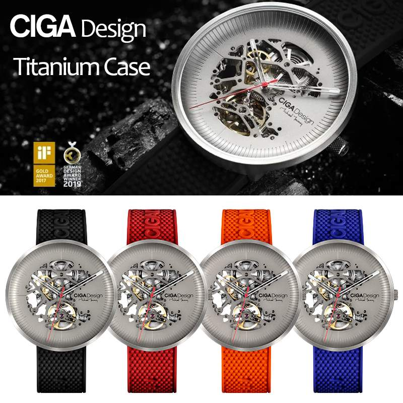 CIGA DESIGN  CIGA Watch MY Series Titanium Edition Automatic Hollow Mechanical Watch Women Men's FASION Watch