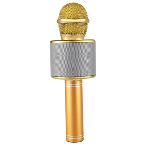Image 5 - Wireless Karaoke Microphone Portable Bluetooth mini home KTV for Music Playing Singing Speaker Player PHONE PC Purple/Blue/Gold