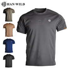 Men's Quick Dry Tactical Shirt Outdoor Hiking Hunting Shirts Short Sleeve Casual Clothes Commute Combat T-Shirt Military Army