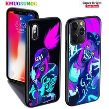 Black Silicone Case kda kaisa Ahri akali for iPhone 11 11Pro XS MAX XR X 8 7 6S 6 Plus 5S Gloss Phone Case Cover(China)