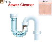 Xiaomi Clean N สด 24PCS ท่อระบายน้ำทำความสะอาดบ้านทำความสะอาดละลายท่อทำความสะอาดคราบขุดลอกท่อ Bacteriostasis Deodorizatio