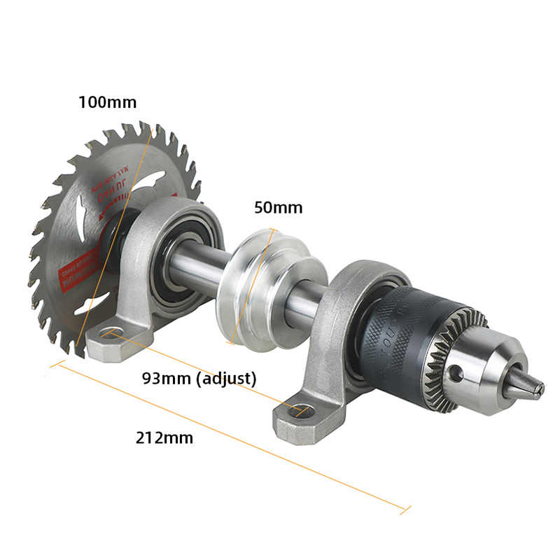 Bearing seat Pulley Bench saw Drill Woodworking rotary lathe DIY Spindle Chuck Y