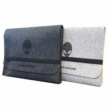 Feltro pano de lã braçadeira saco maleta envelope kit trolley caso proteção para alienware 18/17/15/14/13 polegada