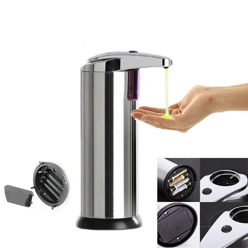 Automatic Soap Auto Sensor Hands Free Touchless Liquid Sanitizer Dispenser Stainless Steel Soap Liquid Dispenser Bathroom