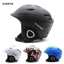 Шлем для сноуборда, лыжного спорта, защитный, цельный, формованный, дышащий, мужской, женский, скейтборд, лыжный шлем, размер 57-63 см