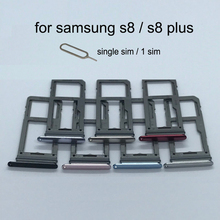 SIM Karte Slot Adapter Für Samsung Galaxy S8 Plus G950 G950F G955 G955F Original Telefon Gehäuse Micro SD Karte Fach halter Schublade