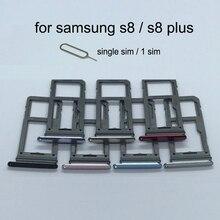 ซิมการ์ดสล็อตสำหรับ Samsung Galaxy S8 PLUS G950 G950F G955 G955F Original โทรศัพท์การ์ด Micro SD ผู้ถือลิ้นชัก