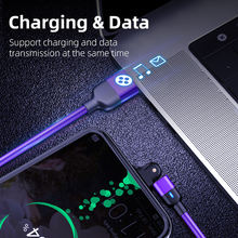 180 Degree Rotate 3A Type C USB Cable USB Type C Cable Fast Charging QC3.0 Straight & L Type Micro USB Mobile Phone Wire Cord