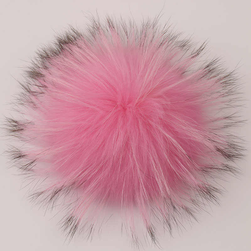 DANKEYISI Echt Bont Pompoms 15-16cm DIY Wasbeer en Vos Bont Pom Poms Ballen Natuurlijke Bont Pompon Voor caps Zakken Sjaal Accessoires