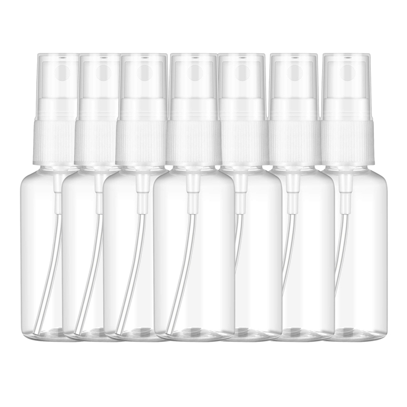 50PCS 60 Ml Transparent Plastic Perfume Atomizer Small MIni Empty Spray Refillable Bottle