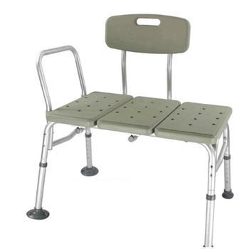 "Bathroom Chair 3 Blow Molding Plates 26.4"" 10 Height Aluminium Alloy FDA Cleared Anti-slip Heavy Duty For Elderly Shower Seat"