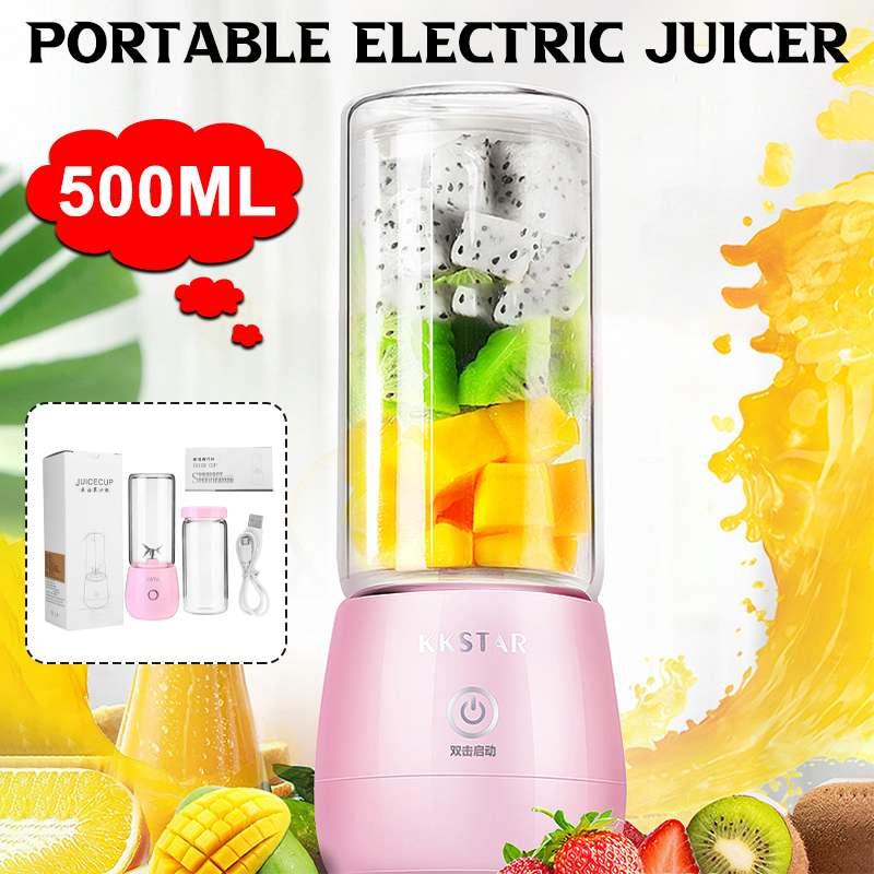 500 мл Мини электрическая соковыжималка для фруктов машина USB Перезаряжаемые Портативный смузи блендер смеситель сока чашка для дома, заняти...