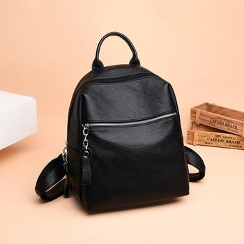 Luxury Brand Backpack Women Leather Travel Shoulder Packbag Vintage School Bags for Teenage Girls Casual Ladies Daypacks Mochila burminsa brand korean style small women genuine leather backpack female travel bags pack causal ladies daypack for teenage girls