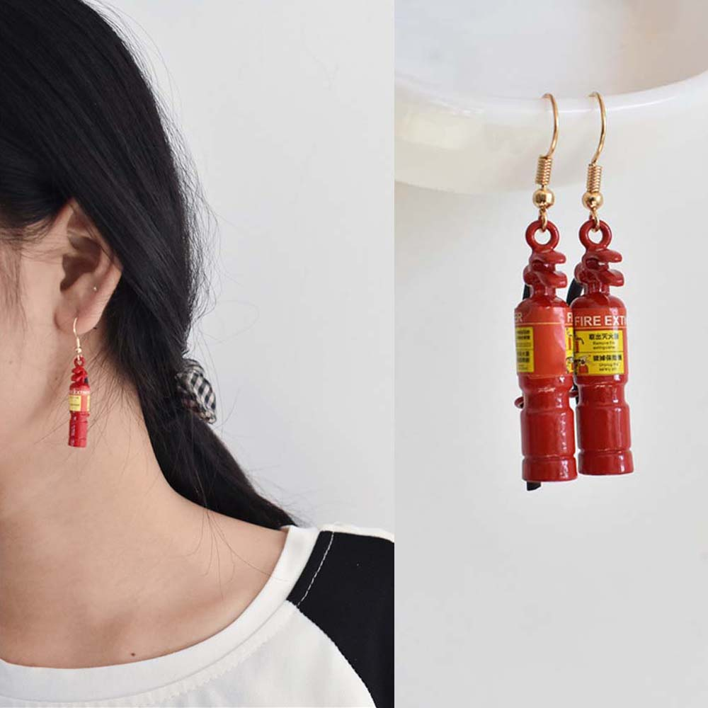 1Pair Fire Extinguisher/Television Earrings Women's Creative Jewelry Prom Party Personality Funny Accessories Birthday Gifts