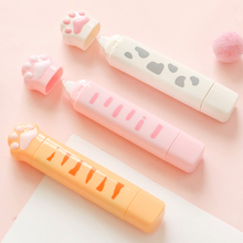 Yisuremia NEW 2 in 1 Cute Cat Claw Correction Tape 4M & 3M Dot Glue Tape Double Head Corrector Adhesive Tape Kawaii Stationery