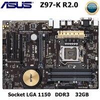 ASUS Z97 K R2.0 original MAINBOARD boards LGA 1150 DDR3 i7 i5 i3 CPU 32G SATA3 USB2.0 UBS3.0 Z97 USED desktop motherboard