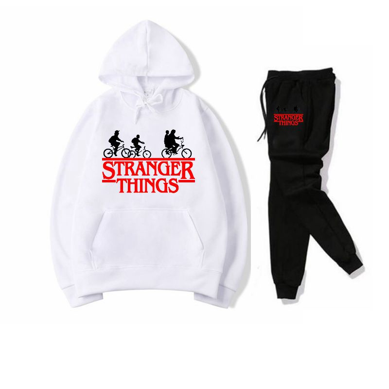 New Tracksuit Men Sportswear Set Fleece Hoodie Suit Letter Print Malechandal Hombre Spring Autumn Winter Hoodie+Pants Set